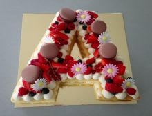 Letter Cake Fruits rouges
